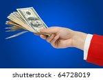 money in a woman hand  ... | Shutterstock . vector #64728019