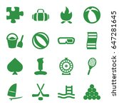 leisure icons set. set of 16... | Shutterstock .eps vector #647281645