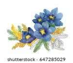 bright beautiful floral... | Shutterstock . vector #647285029