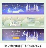 ramadan kareem banners template....   Shutterstock .eps vector #647287621