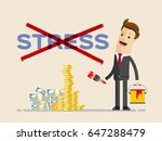 businessman cross out word