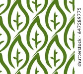 ornament from leaves painted by ... | Shutterstock .eps vector #647289775