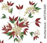seamless floral pattern in... | Shutterstock .eps vector #647294185