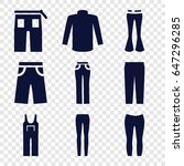 jeans icons set. set of 9 jeans ... | Shutterstock .eps vector #647296285