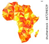 abstract continent of africa... | Shutterstock .eps vector #647298529