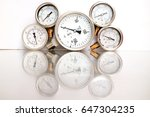 high pressure gauge meters or... | Shutterstock . vector #647304235