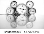 high pressure gauge meters or... | Shutterstock . vector #647304241