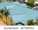 steel roofing on modern... | Shutterstock . vector #647309311
