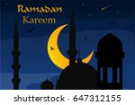 ramadan mubarak  ramadan kareem ... | Shutterstock .eps vector #647312155