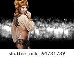 beautiful russian girl in new...   Shutterstock . vector #64731739