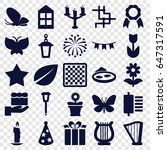 decorative icons set. set of 25 ...   Shutterstock .eps vector #647317591