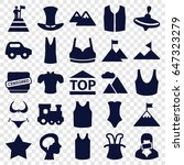 top icons set. set of 25 top... | Shutterstock .eps vector #647323279