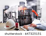 engineering industry concept in ... | Shutterstock . vector #647325151
