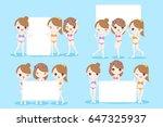 beauty cartoon women take... | Shutterstock . vector #647325937