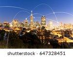 night scene of modern... | Shutterstock . vector #647328451
