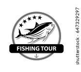 graphic fishing tuna  vector   Shutterstock .eps vector #647329297