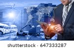 business logistics concept ... | Shutterstock . vector #647333287