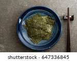 dried seaweed on plate  ... | Shutterstock . vector #647336845