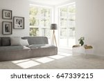 white room with sofa and green... | Shutterstock . vector #647339215