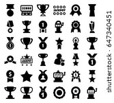 prize icons set. set of 36... | Shutterstock .eps vector #647340451