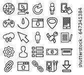 app icons set. set of 25 app... | Shutterstock .eps vector #647341384