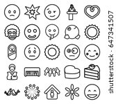 Happy Icons Set. Set Of 25...