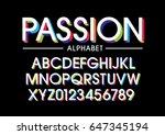 vector of modern stylized... | Shutterstock .eps vector #647345194