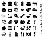 eat icons set. set of 36 eat... | Shutterstock .eps vector #647346304