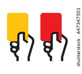 yellow card and red card | Shutterstock .eps vector #647347501