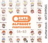 cute chibi kawaii characters... | Shutterstock .eps vector #647349061
