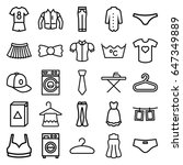 clothes icons set. set of 25... | Shutterstock .eps vector #647349889