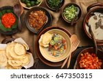 soto betawi. traditional beef... | Shutterstock . vector #647350315