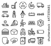service icons set. set of 25... | Shutterstock .eps vector #647350681