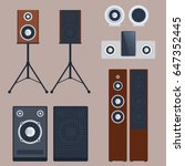 home sound system stereo flat... | Shutterstock .eps vector #647352445