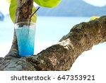 blue hawaii soda tropical drink ...   Shutterstock . vector #647353921