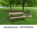 Rest Area Table With Grill At...