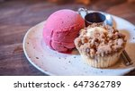 roselle crumble with mix berry...   Shutterstock . vector #647362789