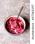 berry ice cream  close up  top... | Shutterstock . vector #647363197