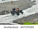 off road vehicle car moving on... | Shutterstock . vector #647370181