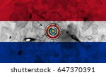 paraguay flag grunge background.... | Shutterstock . vector #647370391