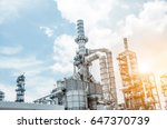 close up industrial view at oil ... | Shutterstock . vector #647370739