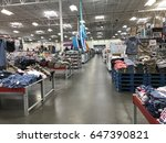 Small photo of FOLSOM, USA - MAY 25, 2017: Sam's Club Walmart wholesale superstore, shopping aisle inside warehouse