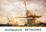 map global logistics... | Shutterstock . vector #647402905