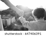 happy childhood moment. mother... | Shutterstock . vector #647406391