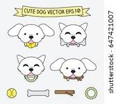 cute dog vector illustration... | Shutterstock .eps vector #647421007