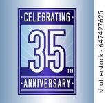 35 years anniversary design... | Shutterstock .eps vector #647427625