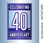 40 years anniversary design... | Shutterstock .eps vector #647427685