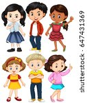 different characters of boys... | Shutterstock .eps vector #647431369
