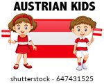 boy and girl from austria... | Shutterstock .eps vector #647431525