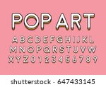vector of modern colorful font... | Shutterstock .eps vector #647433145
